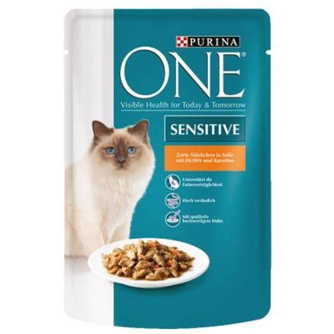katzenfutter günstig kaufen purina one sensitive 6 x 85 g g 195 188 nstig bei zooplus