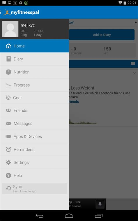 myfitnesspal android app myfitnesspal soft for android free