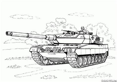 disegni da colorare carro armato tedesco