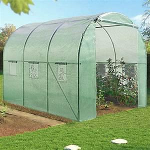 serre de jardin tunnel 6m2 verte en acier galvanise serres With serre tunnel de jardin