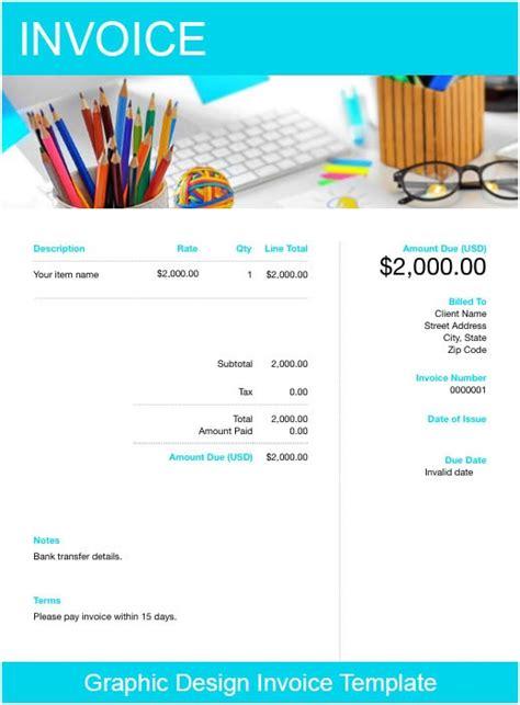 graphic design invoice template   send