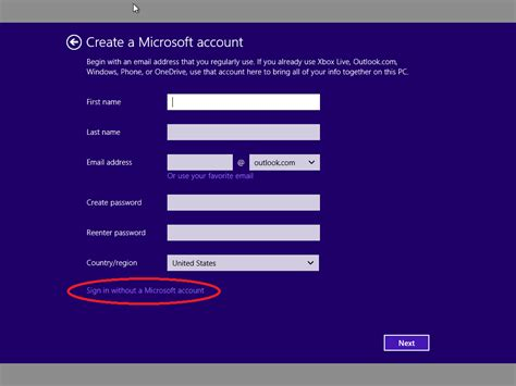 How To Create A Local Account During Out Of Box Experience Setup  Microsoft Community