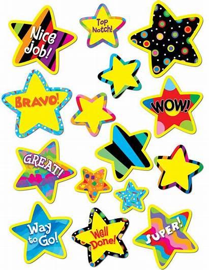 Stickers Reward Star Stars Children Pattern Bright