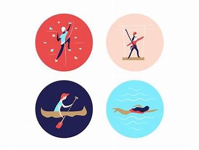 Recreational Activities Fun Icons Physical Semester Recreation