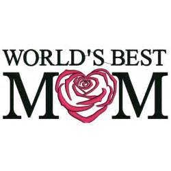 World's Best Mom Embroidery Design
