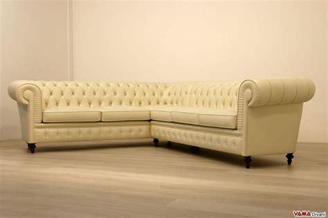 divano chesterfield angolare prezzi  misura