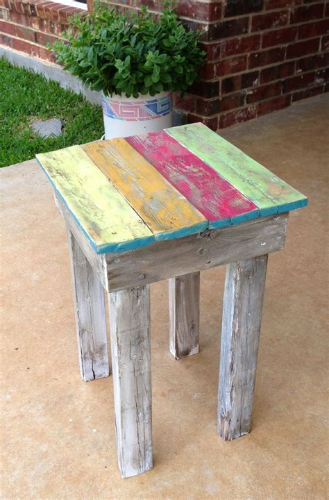 recycled fence pickets    small coffee table