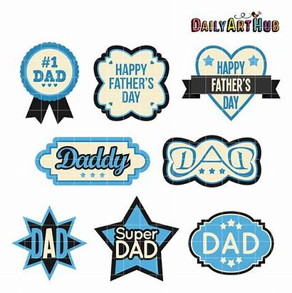 Fathers Clipart Clip Happy Labels Father Arts