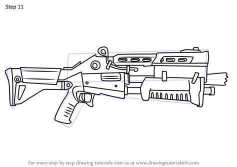 learn   draw tactical shotgun  fortnite fortnite step  step drawing tutorials