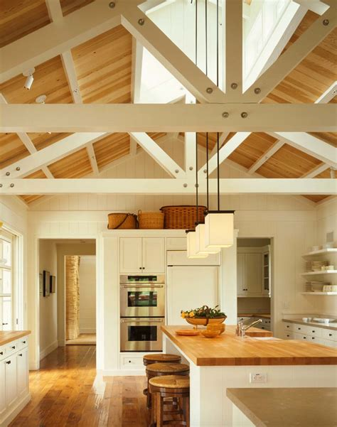 kitchen island with pendant lights 30 stunning interior living spaces with exposed ceiling