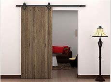 6 FT Country Style Black Barn Wood Steel Sliding Door