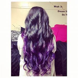 Dark Brown to Purple Ombre - Hair Colors Ideas