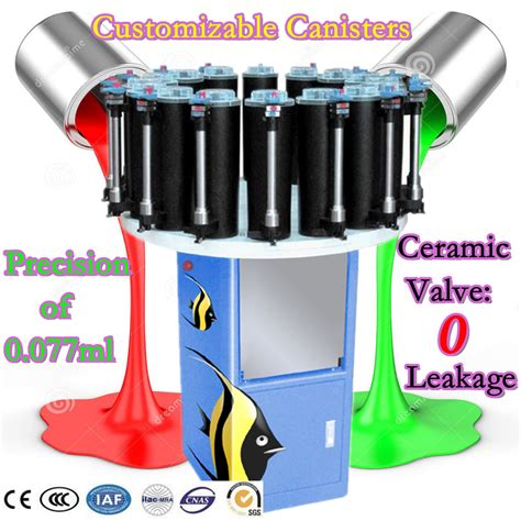 paint tinting machine colorant dispenser color mixing machine with sophisticated fabrication