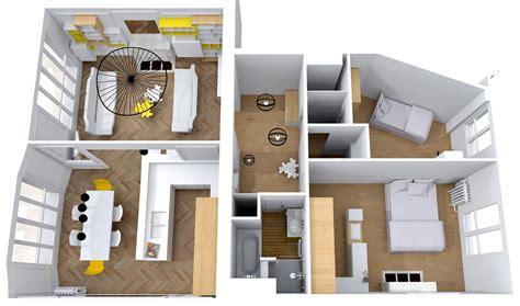 plan cuisine ilot central rénovation complète appartement tour eiffel cimaise