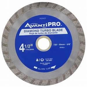 Avanti Pro 4-1/2 in Turbo Diamond Blade-HD-T45S8 - The