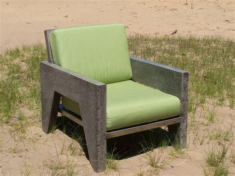 handmade  portland concrete lounge chair  natural