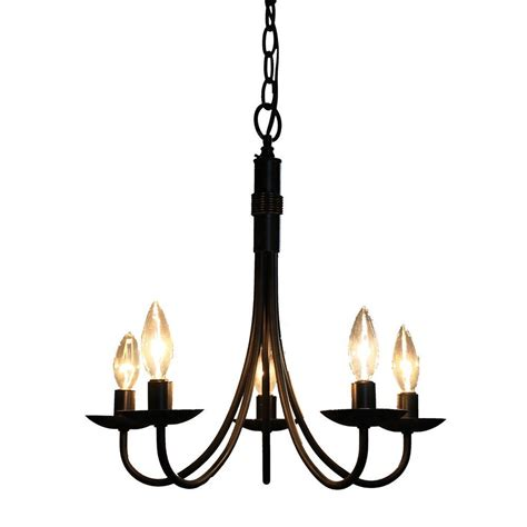 filament design brno 5 light black chandelier cli