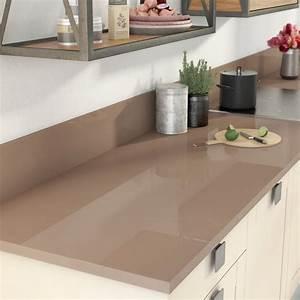 Protege Plan De Travail : plan de travail stratifi brun tweed 2 brillant x p ~ Premium-room.com Idées de Décoration