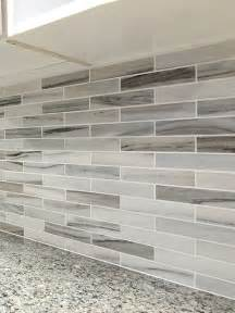 Kitchen Backsplash Material Options Modern White Gray Subway Marble Backsplash Tile