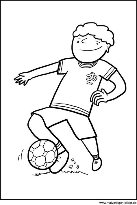 fussballspieler gratis ausmalbild