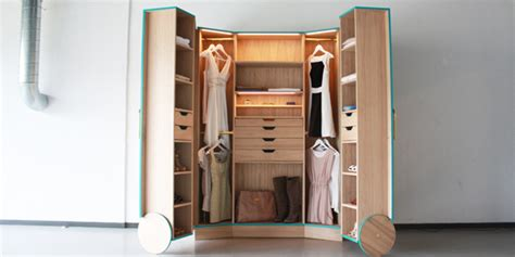 Wardrobe Closet For Small Spaces by Ergonomic Walk In Closet Opens Up Into A Stylish Mini