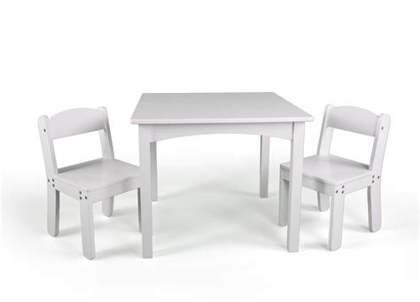 Kmart Cing Table And Chairs by Wonkawoo Children S Deluxe Table And Chair Set White