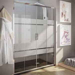 porte de douche coulissante 190x195 cm serigraphie rhin With porte de douche coulissante avec quel plafonnier pour salle de bain