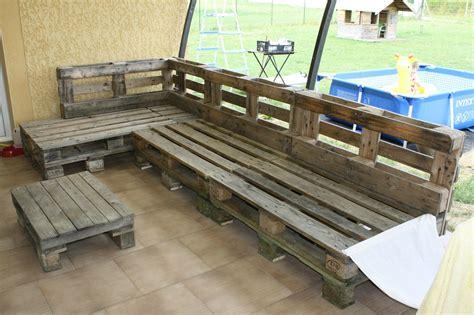 canapé en palette en bois canape exterieur palette maison design sphena com