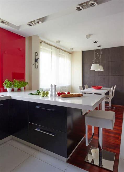 cuisine avec plan de travail noir déco maison en pour un appartement moderne vivons maison