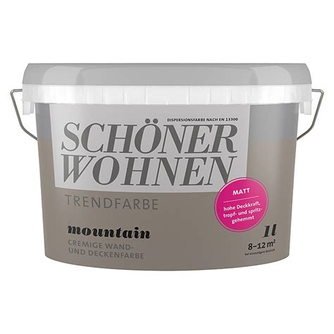 Schöner Wohnen Beratung by Sch 246 Ner Wohnen Wandfarbe Trendfarbe Mountain 1 L Matt