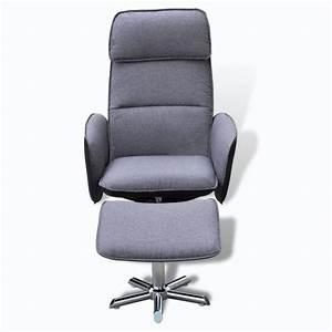 Fauteuil Repose Pied : la boutique en ligne fauteuil avec repose pied gris ~ Teatrodelosmanantiales.com Idées de Décoration