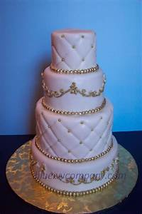 You have to see White and Gold Cake by BakingJeannie!