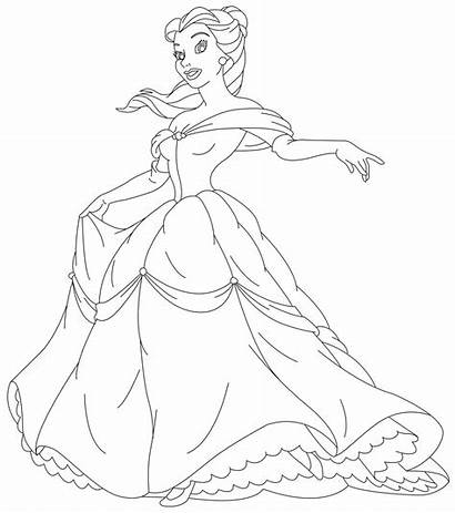 Princess Coloring Beauty Pages Printable Belle Magazine