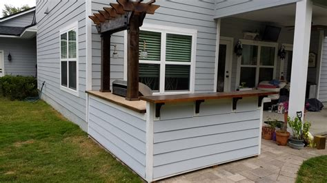 ana white outdoor bar grill surround with 2 post pergola