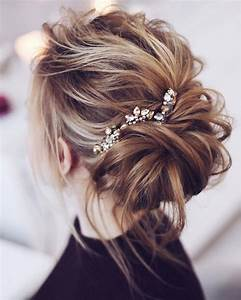 Beautiful messy bridal hair updos Wedding hairstyle updos