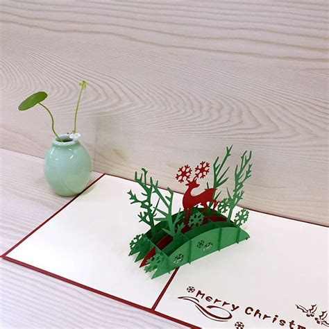 3D Christmas Cards Funny Holiday Pop Up Boxed Xmas