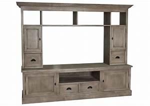 Meuble Tele Haut : acheter votre meuble t l en pin massif marron chez simeuble ~ Teatrodelosmanantiales.com Idées de Décoration