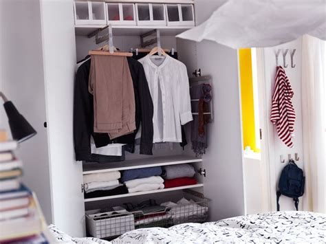 clothes rail for shallow closets from ikea 10 ocd for