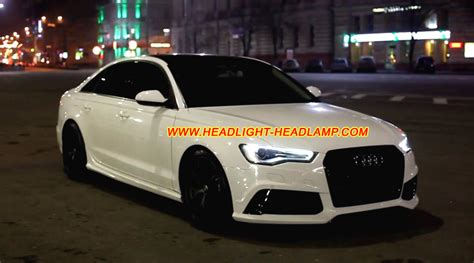audi a6 c7 facelift audi a6 s6 rs6 c7 xenon led headlight lens cover plastic glass shell replacement