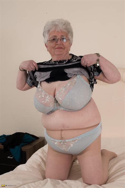 Big breasted British granny