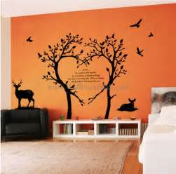 bambi love tree wall decals walldecalmall com