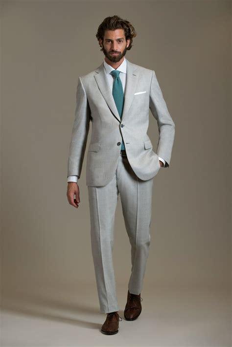 light grey suit white shirt hardon clothes