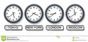 Horaires New York : horloges de fuseau horaire du monde illustration stock image 25162968 ~ Medecine-chirurgie-esthetiques.com Avis de Voitures