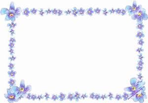 free digital blue flower frame: faux vintage forget-me-not ...