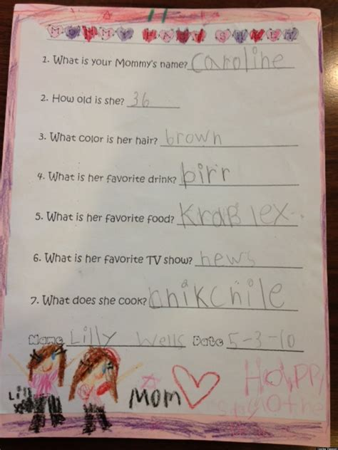 cute kid note   day mommys favorite drink huffpost