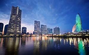 Sunset in Yokohama Japan #4170538, 1920x1200 All For Desktop