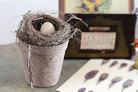 Vintage Bird Nest Home Decor