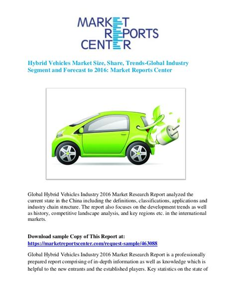 2016 In Hybrid Vehicles by Global Hybrid Vehicles Market Research Report 2016