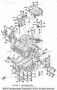 Yamaha Motorcycle 1977 Oem Parts Diagram For Crankcase