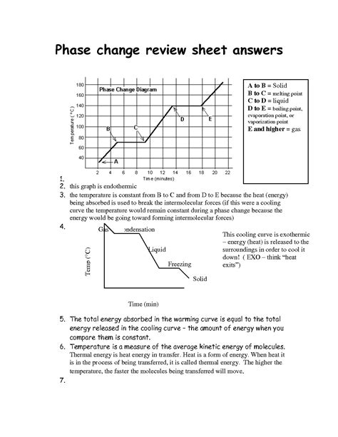 13 Best Images Of Phase Change Worksheet Middle School  Blank Phase Change Diagram, 4th Grade
